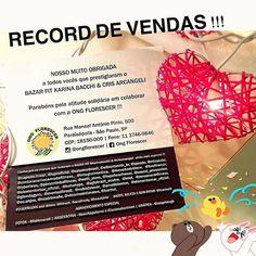 VENDA RECORD !!! MAIS UMA VITÓRIA ! O BAZAR FIT @karinabacchi & @crisarcangeli Superou as edições anteriores e a doação para a @ongflorescer será ainda maior !!!  MUITO OBRIGADA A TODOS VCS QUE PRESTIGIARAM  COMPRARAM E DOARAM tantas peças lindas TORNANDO TUDO ISSO POSSÍVEL !!!! @licacinelli  vc seu espaço e sua equipe -sempre tão gentis e unidos pelo bem -transformam nosso bazar sempre em uma grande celebração ! Obrigadíssima @ceciliapaterno - parceira constante na alegria e na…