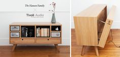 Tivoli Remix Sideboard by The Hansen Family - good idea for cable management too.
