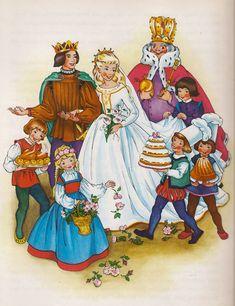 Sleeping Beauty Picture Book Pestalozzi - www. Cinderella, Fable, Vintage Fairies, Artists For Kids, Disney Fairies, Fairytale Art, Gif Animé, Children's Book Illustration, Disney Art