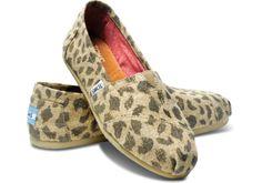Natural Leopard Burlap Women's Classics | TOMS