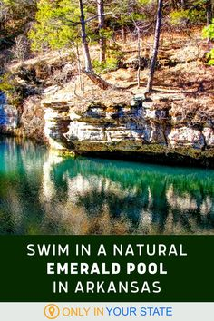 The beautiful, natural Gunner Pool in Arkansas is a gorgeous shade of blue - green. The pristine lake gets its color from limestone deposits. It's a perfect summer swimming destination. Hidden Pool, Usa Trip, Beautiful Sites, Swimming Holes, Summer Travel, Travel Around, Arkansas, Travel Usa, Trip Planning
