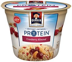 Quaker Instant Oatmeal Express Cups Select Starts with Protein Cranberry Almond Individual Cups Pack of 12 ** More info could be found at the image url. (This is an affiliate link and I receive a commission for the sales) Quaker Instant Oatmeal, Camping Snacks, Cranberry Almond, Hot Cereal, Oatmeal Cups, Protein, Like4like, Tasty, Sweet Like Candy