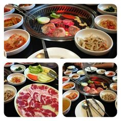Korean food- Korean barbecue. You cook the meat at your table. It's very fun and social.