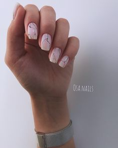 A misconception that beautiful manicure can only be on long nails. We have collected a selection of design ideas for a spectacular manicure. Cute Acrylic Nails, Cute Nails, Pretty Nails, Short Nails, Long Nails, Nails Ideias, Hair And Nails, My Nails, Girls Nails
