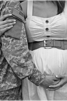 One of my favorite photos from my maternity shoot! Love my soldier :)