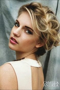 Medium Blonde straight coloured multi-tonal plaited braid updo womens hairstyles for women