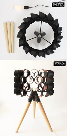 black pipe desk lamp by sassada design studio  #pipe  #lamp
