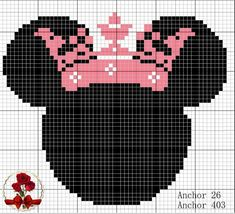 Minnie Mouse with crown - 2019 Trends Cross Stitch Letter Patterns, Disney Cross Stitch Patterns, Cross Stitch Letters, Cross Stitch Designs, Mickey Y Minnie, Mickey Mouse And Friends, Shark Tail Blanket, Minnie Mouse Blanket, Fabric Hearts
