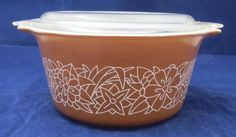 Pyrex Woodland Casserole Covered 473-B Leftovers Dish With Lid #Pyrex