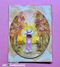 Creations by Dot J.: Fall Birthday Girl Dots Art, Watercolor, Art Impressions Stamps, Drawings, Colored Pencils, Painting, Girl Falling, Art, Watercolor Design