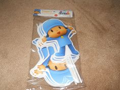 NEW!  POCOYO 12 PIECE PARTY FAVOR TOPPERS DECORATIONS, 9 INCHES HIGH!