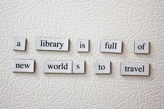 Library Quotes (a searchable database of quotes about libraries, reading, books, literacy)