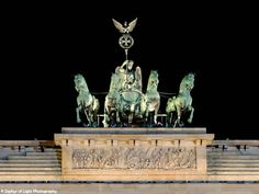 Brandenburg Gate Quadriga, Berlin, Germany. Landscape, City Photography, History, Horses, Chariot, Goddess of Victory, Wall Art, Night.