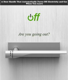 Stylish doorknob that turns off lights and gas when leaving