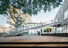 Kengo Kuma uses a grand staircase to create a shop