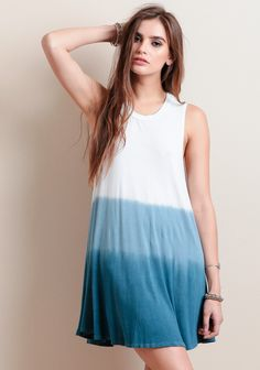 Monday Blues Ombre Dress at #threadsence @threadsence