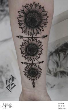 All the Best Gorgeous Sunflower Tattoo Designs