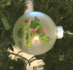 Hand painted Christmas ornaments - $8 each   www.facebook.com/victoriagarnerpainting