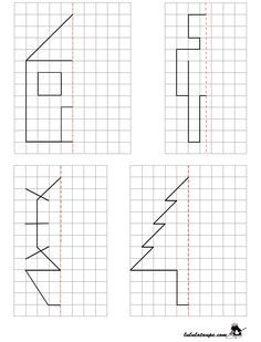 Reproduire un dessin par symétrie axiale sur quadrillage