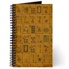 Old Style Mah Jongg Tile Journal on CafePress.com