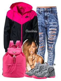 """Sabotage X Wale"" by itsteresa ❤ liked on Polyvore featuring NIKE and Prada"