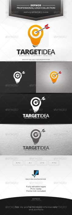 Target Idea Logo — Vector EPS #business #web • Available here → graphicriver.net/...