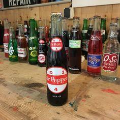 Vintage Dr Pepper soda bottle full
