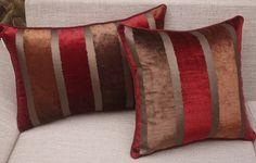Faixa de luxo cobre almofada de sofá almofada fronha Chic almofada elegante de alta qualidade 45 x 45 cm