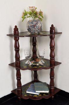 Boho Chic Handmade 3 Shelf Cabinet Decorative Shelves Nightstand Furniture Corner Table 37 x 18 x 18 Inch by HouseOfHandicraft on Etsy