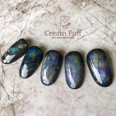 The Most Popular Nail Shapes – Page 1790801060 – NaiLovely Marble Nails, Gold Nails, Perfect Nails, Gorgeous Nails, Creative Nail Designs, Nail Art Designs, Sculpted Gel Nails, Stone Nail Art, Green Nail Designs