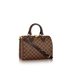 Speedy Bandoulière 25 Damier Ebene Canvas in WOMEN's HANDBAGS  collections by Louis Vuitto