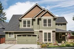 Craftsman Style House Plan - 4 Beds 2.5 Baths 2453 Sq/Ft Plan #48-403 Exterior - Front Elevation - Houseplans.com