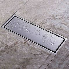 (33.91$)  Know more - http://aiiu1.worlditems.win/all/product.php?id=32339548889 - Invisible Tile Insert Rectangular Floor Waste Grates Bathroom Shower Drain 300x 110mm , 304 grade stainless steel  floor drain
