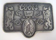 Vintage Coors Banquet Beer Belt Buckle