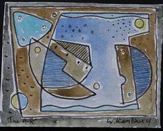 """The Ark"" 1967 Watercolour/Gouache."