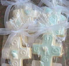 Reserved for PattyCross Cookie Favors Cross by lorisplace on Etsy