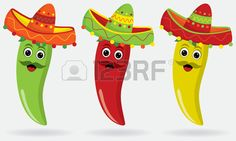 Illustration of Mexican Jalapenos in sombreros vector art, clipart and stock vectors. Royalty Free Images, Royalty Free Stock Photos, Texas Animals, Mexican Party, Love Art, Vector Art, Illustration, Projects To Try, Diy