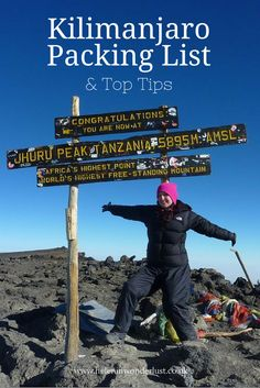 Kilimanjaro Packing List & Top Tips -- my favorite tip is to ask friends and family to write letters to you that you can read while you are on your trek. I love this idea!