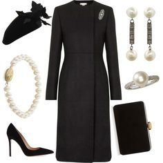 funeral outfit for women memorial services Elegant Dresses, Beautiful Dresses, Royal Fashion, Fashion Looks, Funeral Outfit, Royal Clothing, Estilo Real, Looks Chic, Church Outfits