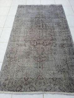 Overdyed Rug, Anatolian Turkish Rug, Vintage Home decor,Pastel Rug, Oushak rug, area rug, faded rug, Antique Rug, Bohemian rugs, 6'8x3'9 ft by Simavrug on Etsy