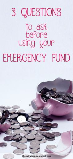 3 Questions To Ask Before Using Your Emergency Fund - If you have an emergency fund or savings sometimes it's too easy to dip into these accounts when you are short of cash. These 3 questions will help you figure out if you should take the money and where you should really take it from.