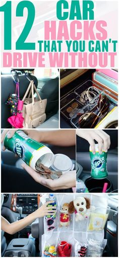 diy car accessories Keeping your car organized and free of clutter can help you focus on driving. Implement these hacks in your car today and thank yourself later. Pinning for later!