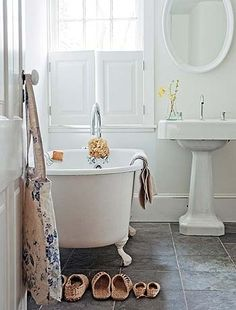 This is why I want to paint our master bath white...