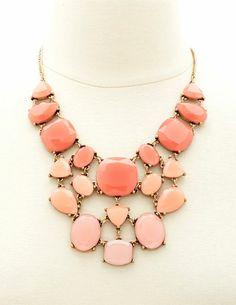 Ombre Stone Bib Necklace: Charlotte Russe
