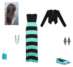 """blue and black stipes"" by emilyk217 ❤ liked on Polyvore"