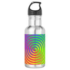 Rainbow Spiral 18oz Water Bottle