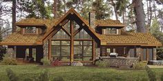 Grundriss des Amber Ridge Log Home von Wisconsin Log Homes - Grundriss des Amber Ridge Log Home von Wisconsin Log Homes - Timber Frame Homes, Timber House, Timber Frames, Style At Home, Log Home Floor Plans, House Plans, Log Home Designs, Log Home Decorating, Log Cabin Homes
