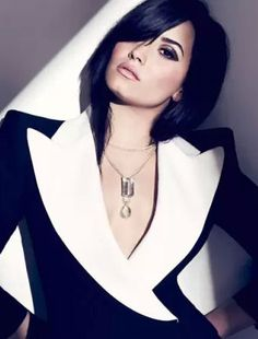 """Demi Lovato in """"Demi Goddess"""" Photographed By Chris Nicholls &Styled By Zeina Esmail For Fashion Magazine, August 2013"""
