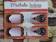 Nail Gems, Gem Nails, E Design, Gadgets, Beaded Bracelets, Bling, Polish, Nail Art, Earrings
