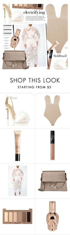 """""""Untitled #1775"""" by noviii ❤ liked on Polyvore featuring Fashion Forms, Guerlain, NARS Cosmetics, Chloé, Urban Decay, Hot Topic and BoConcept"""